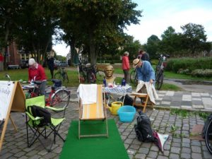 Aktion zum Park(ing) Day in Kiel