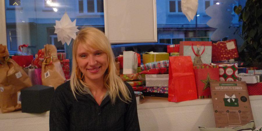 Luise amtsberg sammelt für geflüchtetee Kinder