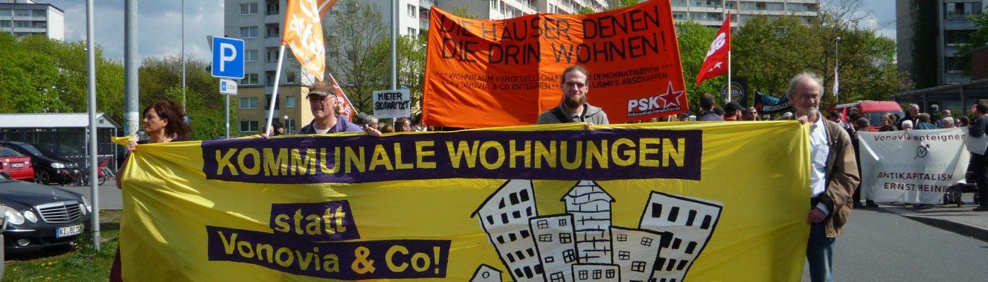 Demonstration in Kiel Mettenhof