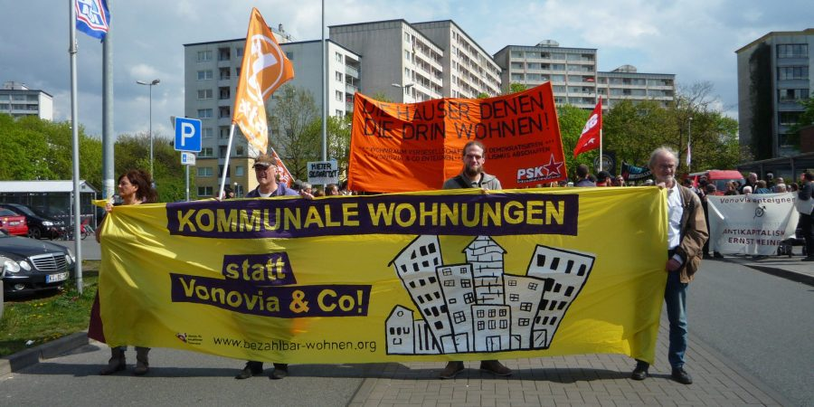 Demonstration in Kiel Mettenhof