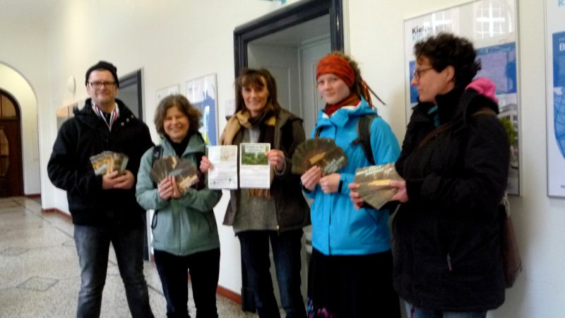 Aktion für den Erhalt des Kieler Grüngürtels