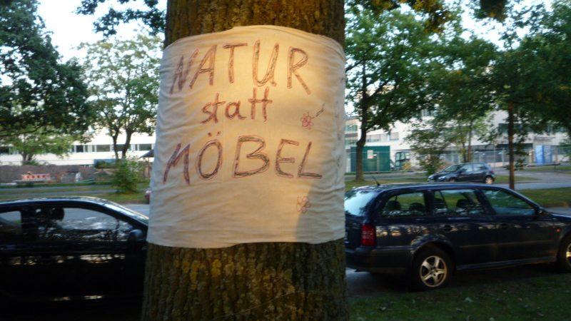 Protestaktion gegen die Pläne von Kurt Krieger