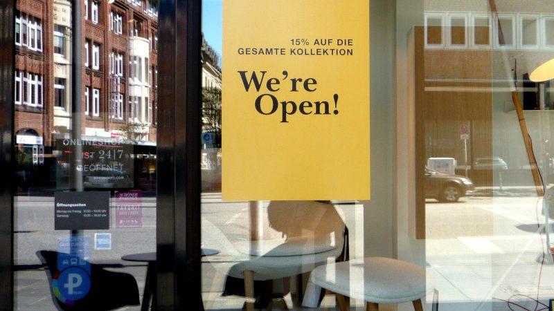 Geschäfte öffnen wieder