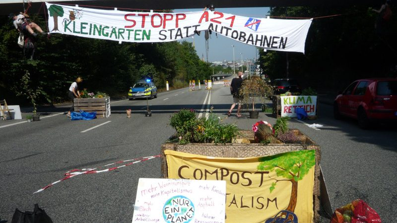 Demonstration auf der B404