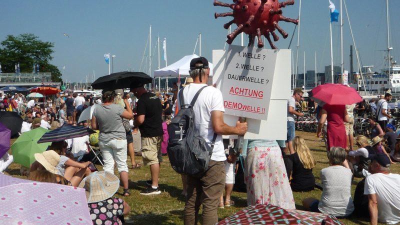 Corona Demo in Kiel