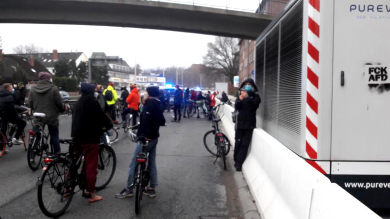 Klima Demo auf dem Theodor-Heuss-Ring
