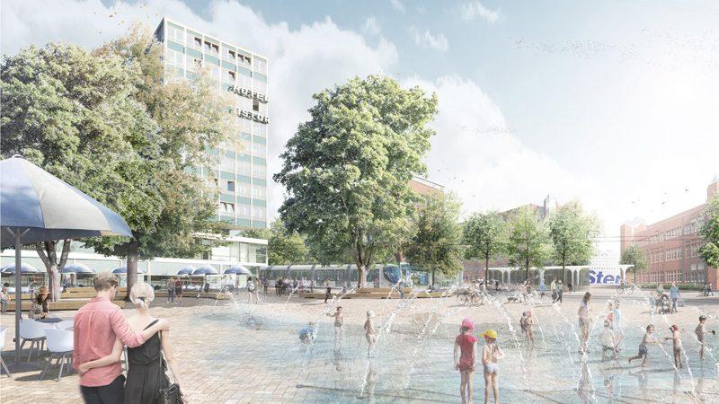 Lohaus Karl Köhlmos stellen sich ein Wasserspiel vor.