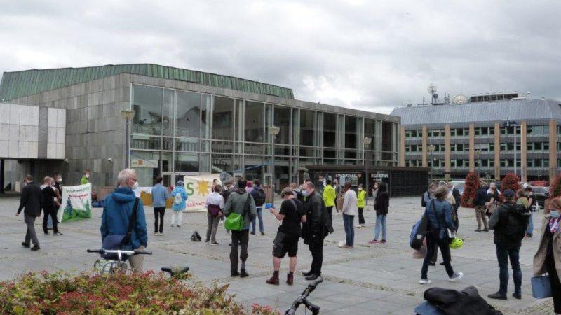 Kundgebung gegen Südspange in Kiel